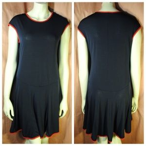 Dresses & Skirts - 1920s VTG Style Blue Drop Waist Jersey Dress
